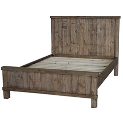 Industrial - King Bed - Weathered Pine