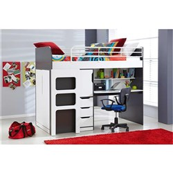 Oxford - Bunk Bed - Charcoal Grey/White