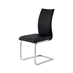 Cannes - Dining Chair - Black/Stainless Steel