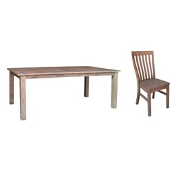Driftwood 9PC - Dining Suite - Weathered Grey