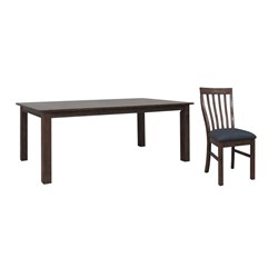Farmhouse - Dining Table, 6 x Dining Chairs - Tuscan Chestnut
