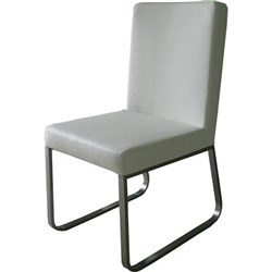 Tuscany - Dining Chair - White/Stainless Steel