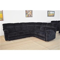 Arizona - LHF 2 Seater With Recliner + Corner + 1 Chair + RHF 2 Seater with Recliner - Midnight