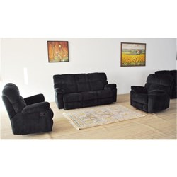 Arizona - 3 Seater w 2 Recliners + 1 Recliner + 1 Recliner - Steel