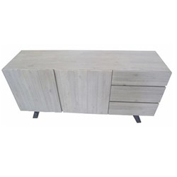 Bari - Buffet, 3 Drawer/2 Door - Latte