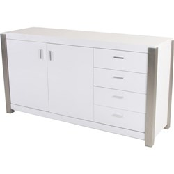 Cannes - Buffet, 2 Door/4 Drawer - 2PAC/White