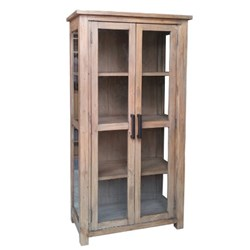 Driftwood - Display Cabinet - Pine/Weathered Grey
