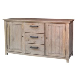 Driftwood - Buffet, 2 Door/3 Drawer - Pine/Weathered Grey