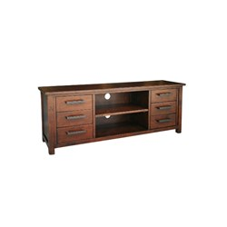 Farmhouse - ETU, 6 Drawer/2 Shelf - Pine/Tuscan Chestnut
