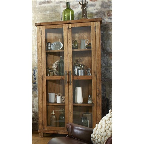 Industrial - Display Cabinet - Recycled Pine/Weathered Pine