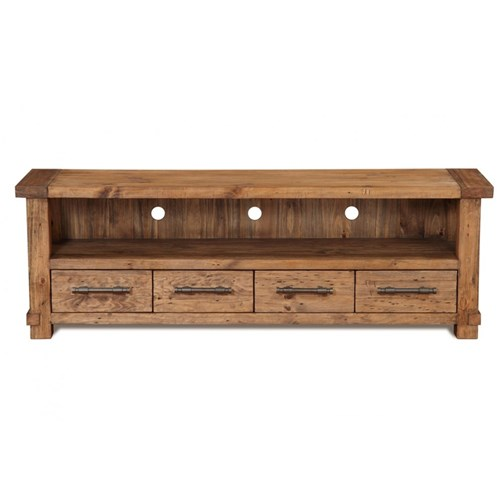 Industrial - ETU, 4 Drawer + 1 Shelf  - Recycled Pine/Weathered Pine