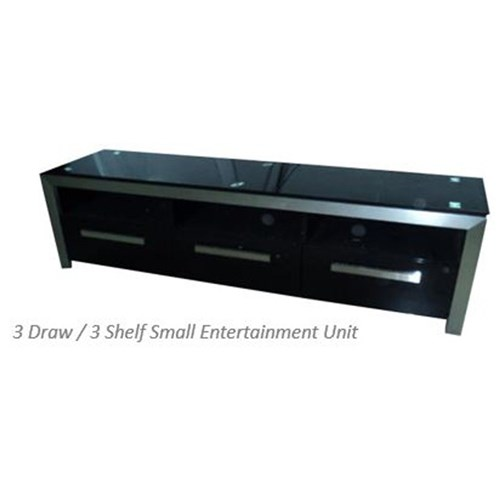 Kildaire - ETU, 3 Drawer/3 Shelf - High Gloss Black